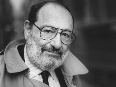 Umberto Eco Porträt schwarz-weiss