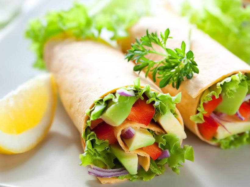 Vegetarische Gemüsewraps