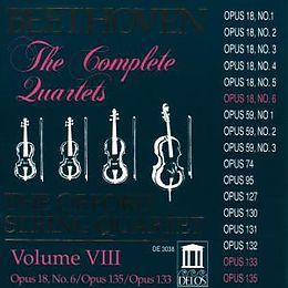 Quartett Op18/6, Op135, Grosse Fuge Op13