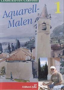 AQUARELL-MALEN-Landschaften Gardasee 1 [Versione tedesca]