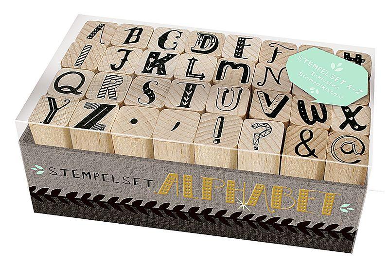 holzstempel set alphabet buch kaufen. Black Bedroom Furniture Sets. Home Design Ideas