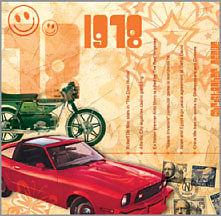 1978 - Karte und Jahrgangs-CD mit 20 Original Charthits.