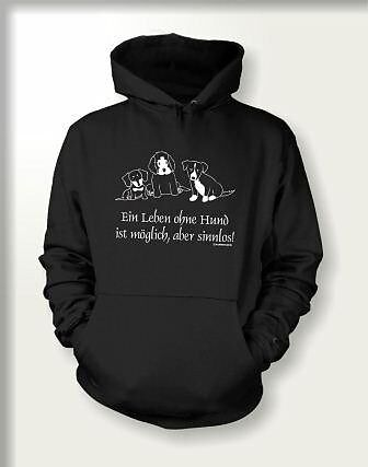 ein leben ohne hund hoodie l kapuzen pullover hoodies online kaufen. Black Bedroom Furniture Sets. Home Design Ideas