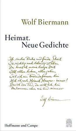 Heimat. Neue Gedichte [Version allemande]
