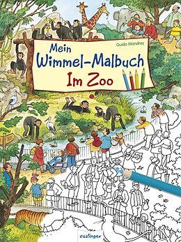 Mein Wimmel-Malbuch  Im Zoo [Version allemande]