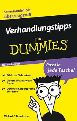 Verhandlungstipps für Dummies. Das Pocketbuch [Versione tedesca]