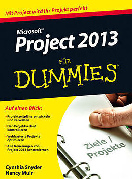 Microsoft Project 2013 für Dummies