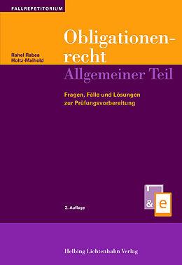 Obligationenrecht Allgemeiner Teil [Version allemande]