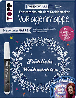 vorlagenmappe fensterdeko mit dem kreidemarker fr hliche weihnachten bine br ndle buch. Black Bedroom Furniture Sets. Home Design Ideas