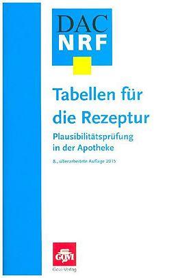 Tabellen für die Rezeptur [Version allemande]