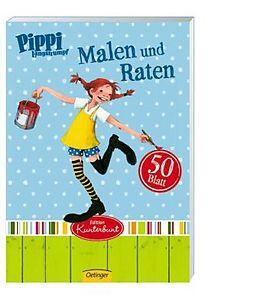 Pippi Langstrumpf Malblock Malen und Raten
