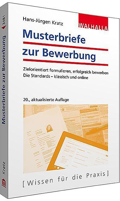 Musterbriefe Zur Bewerbung - Hans-Jürgen Kratz - Buch Kaufen