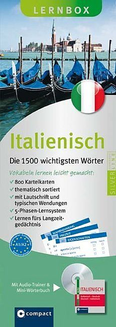 Lernbox Italienisch - Die 1500 wichtigsten Wörter [Version allemande]