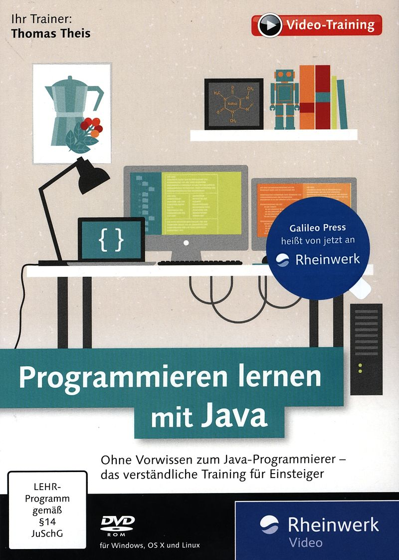 programmieren mit java dvd pc mac d lernen software online kaufen. Black Bedroom Furniture Sets. Home Design Ideas