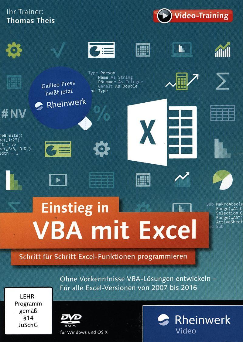 Einstieg in VBA mit Excel [DVD] [PC/Mac] (D) - Lernen - Software ...