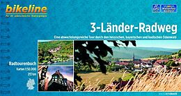 Bikeline Radtourenbuch 3-Länder-Radweg 50000 [Version allemande]