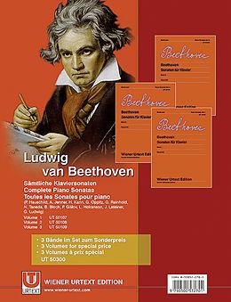 Beethoven: Sonaten für Klavier Bd. 1-3 [Version allemande]