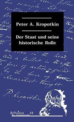 Der Staat und seine historische Rolle [Version allemande]