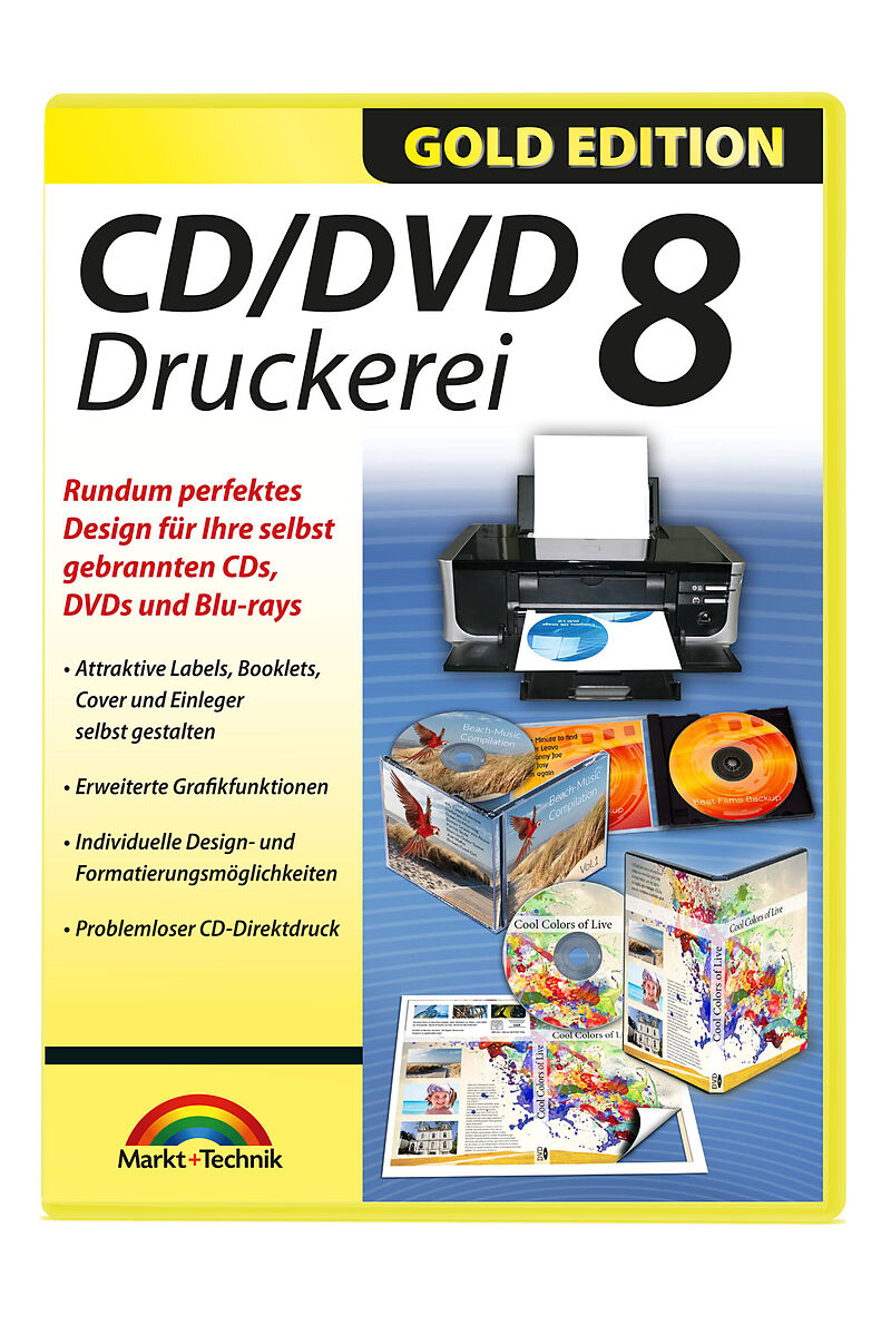 gold edition cd dvd druckerei 8 pc d brennen. Black Bedroom Furniture Sets. Home Design Ideas