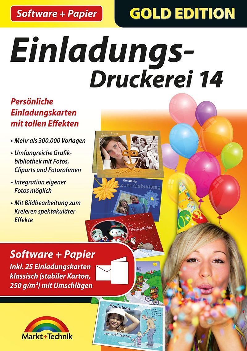 Gold Edition: Einladungs-Druckerei 14 mit Papier [PC] (D) - Autre ...